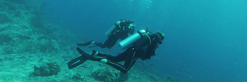 We're scuba diving in Komodo National Park!