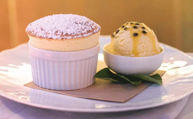 Passionfruit soufflé - One & Only Palmilla