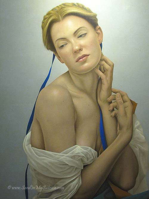 We love this painting by Ecuadorian realist and visionary painter Santiago Carbonnell