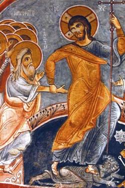 Cappadocia cave cities - Goreme church fresco