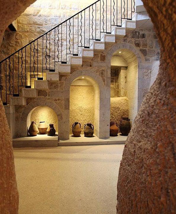 Underground caves at Argos in Cappadocia