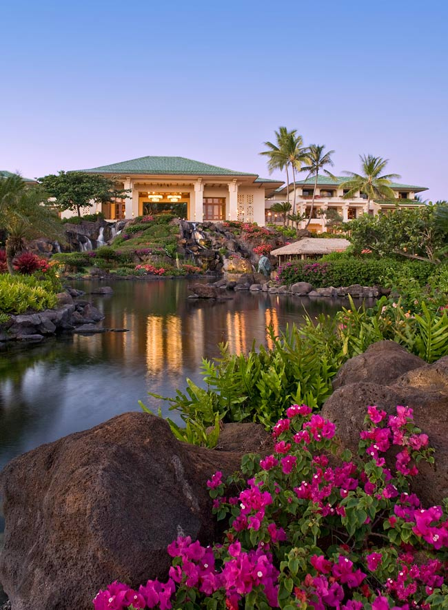 Bougainvillea, waterfalls, beautiful gardens - what's not to like at the Grand Hyatt Kauai!