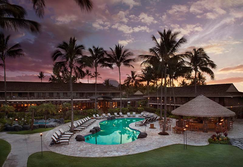 Koa Kea's pool and beachfront lawns are never busy.