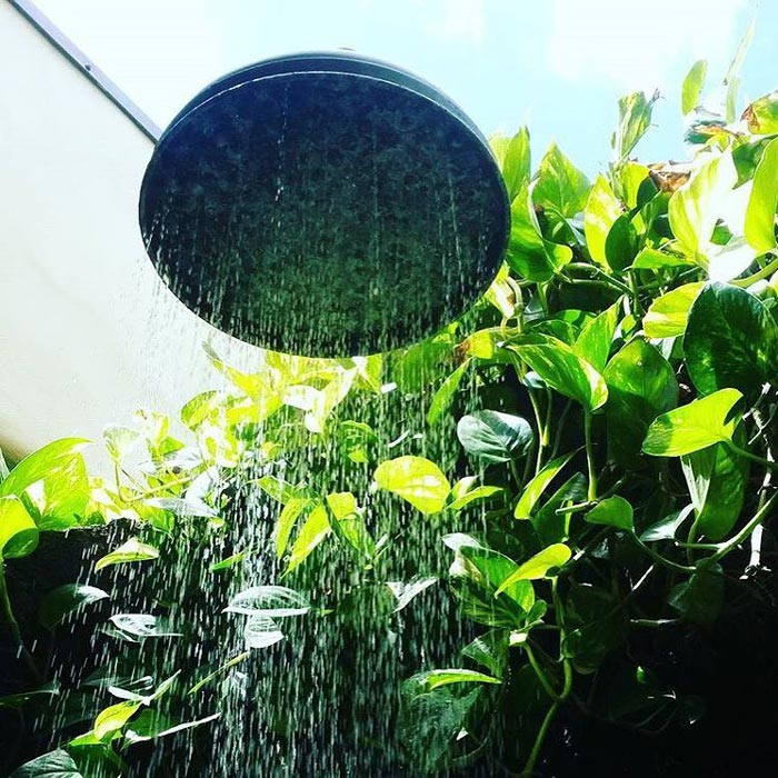 An outdoor shower just makes paradise, well, more like paradise!