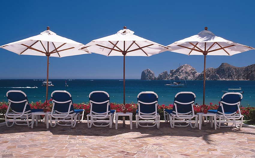 Beach chairs at the Blanco, one of the Pueblo Bonito Resorts in Cabo