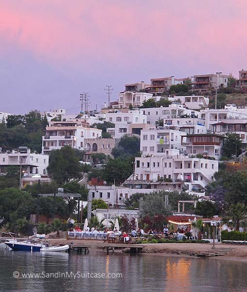 The village of Golturkbuku in Bodrum at sunset