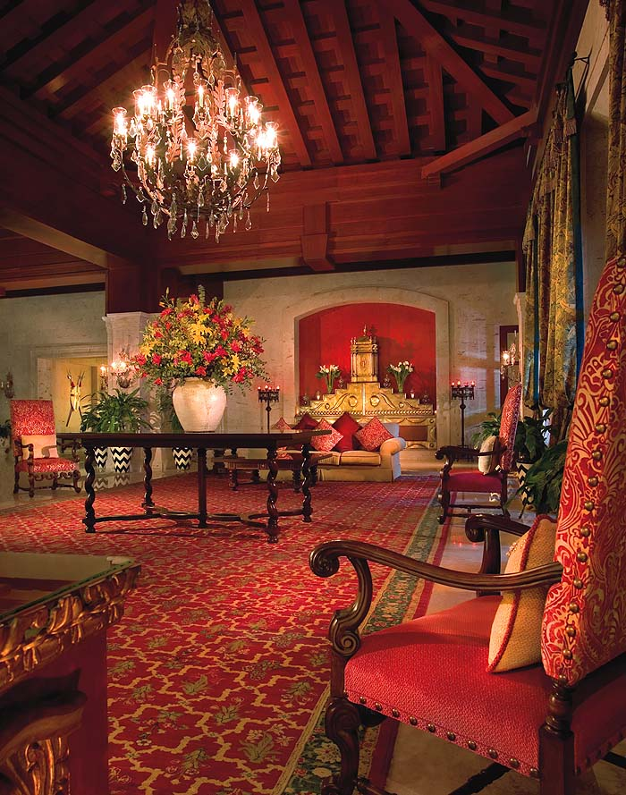 The grand lobby inside the Pueblo Bonito Sunset Beach Resort