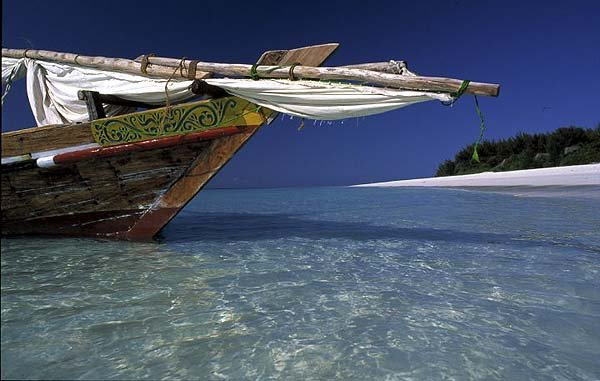 Dhow off Mnemba Ilsland - courtesy andBeyond Mnemba Island Lodge
