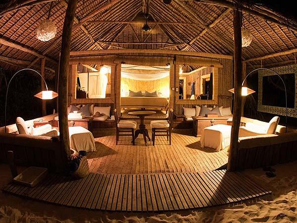 Just 10 bandas on the island - courtesy andBeyond Mnemba Island Lodge