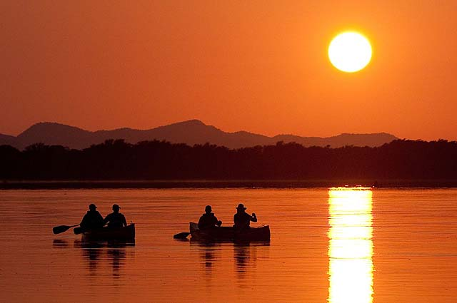 Canoeing at Chiawa Camp