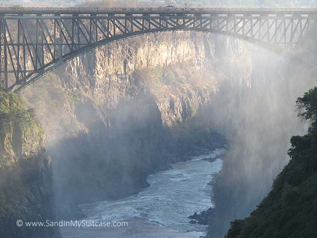 Bridge over a gorge at Victoria Falls