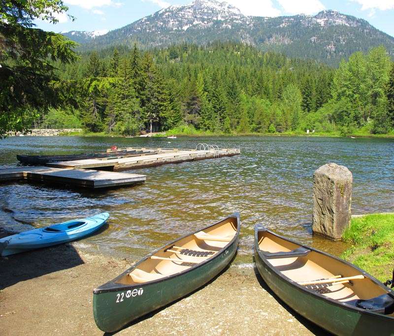 To paddle the River of Golden Dreams in Whistler, you start at Alta Lake.