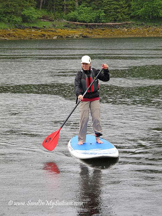 Un-Cruise Adventures Alaska - standup paddleboarding