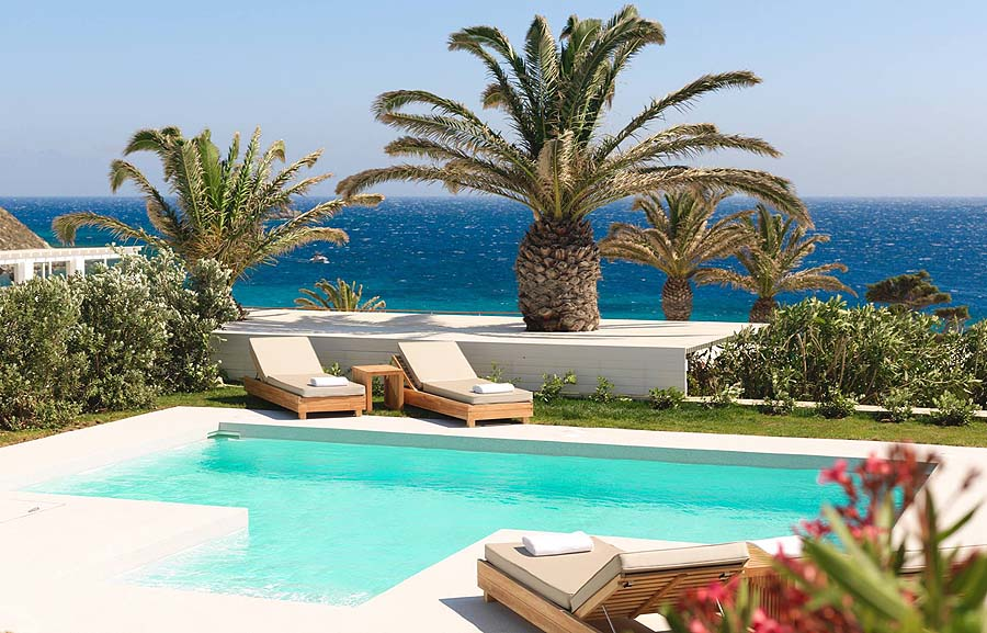 Traveling with kids? Choose a villa with a private pool at Santa Marina Resort, Mykonos