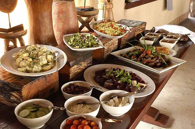 Healthy salads for lunch - credit Simbambili Game Lodge