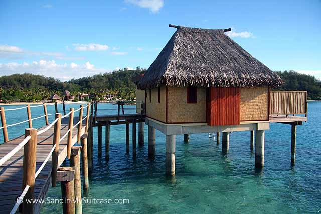 Fijian bures - Likuliku's over-water bures are built over a sparkling turquoise lagoon
