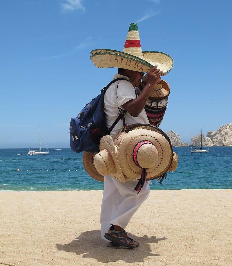 bargaining in Mexico - beach vendor