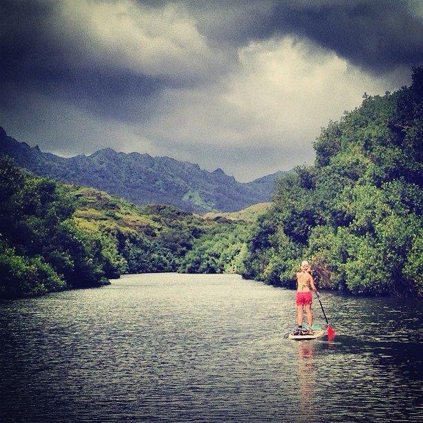 Kauai - stand-up paddleboarding