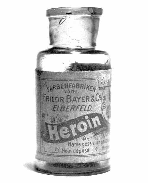 Heroin bottle, sold by Bayer of Aspirin fame