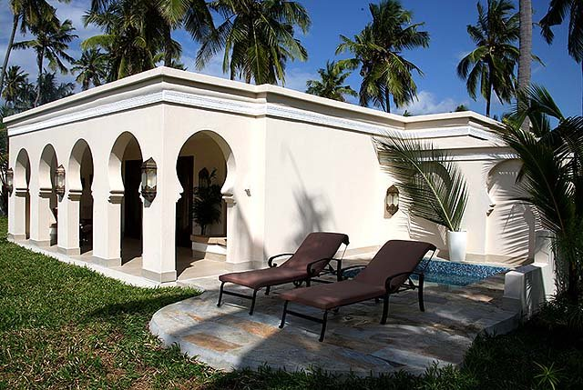 All rooms are private villas at Baraza Resort and Spa, Zanzibar