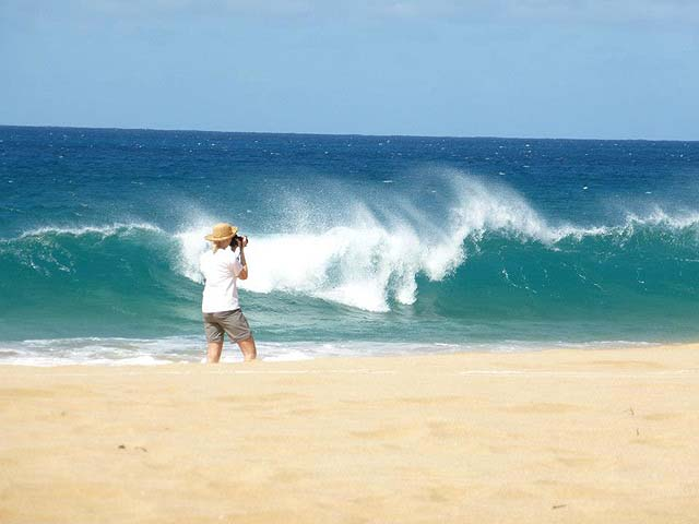 Waves crashing on a Molokai beach - photo Un-Cruise Adventures