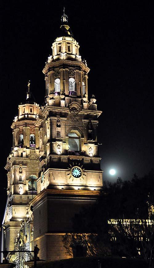 Morelia cathedral - Night shot