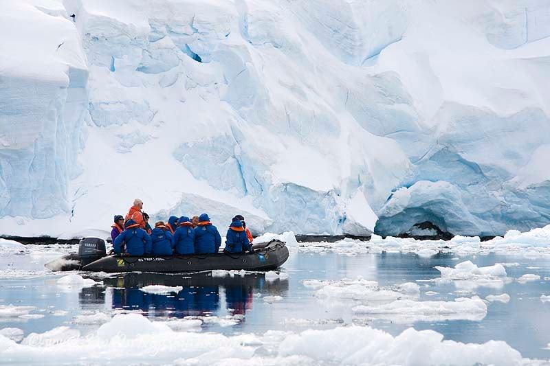 Zodiacs take guest ashore