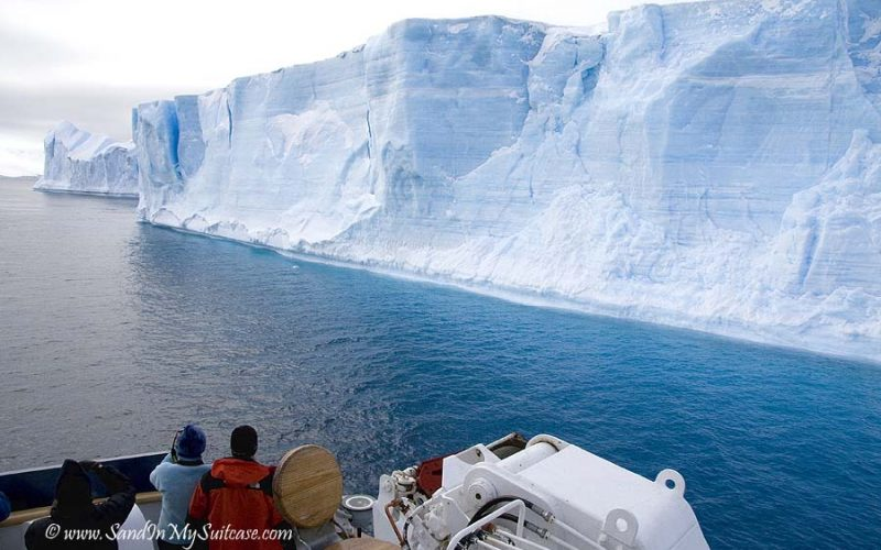Antarctica blue icebergs