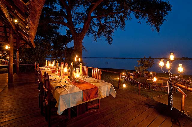 How's this for romantic dining? photo Chiawa Camp Zambia