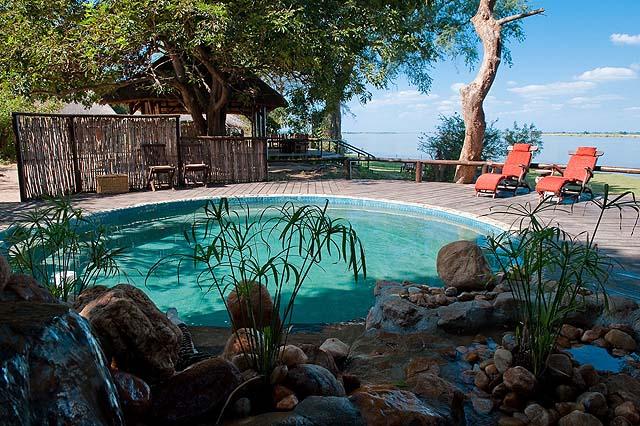 There's even a swimming pool at Chiawa - photo Chiawa Camp Zambia