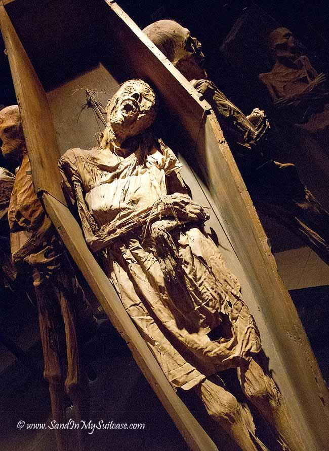 Guanajuato Mummy Museum - mummy in a coffin