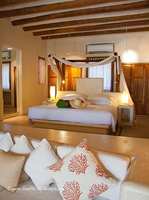 Our open-plan lagoon suite at the Viceroy Zihuatanejo