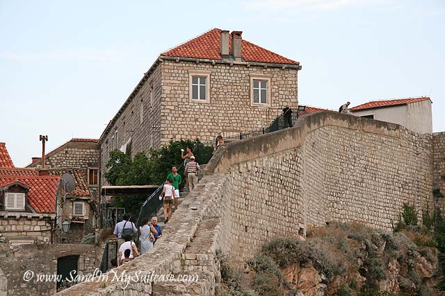 Walking on the wall's ramparts