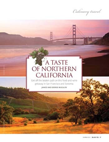 A Taste of Northern California (Black Tie, Summer 2014)