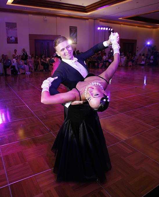 Ballroom dancers compete in the festival - photo Puri Mas