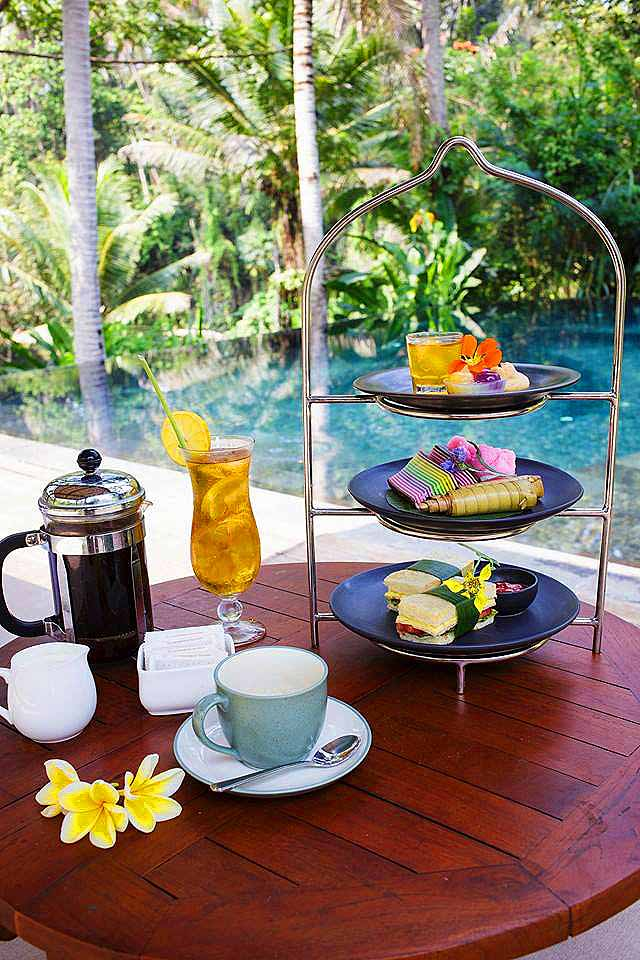 kayumanis villas - afternoon tea