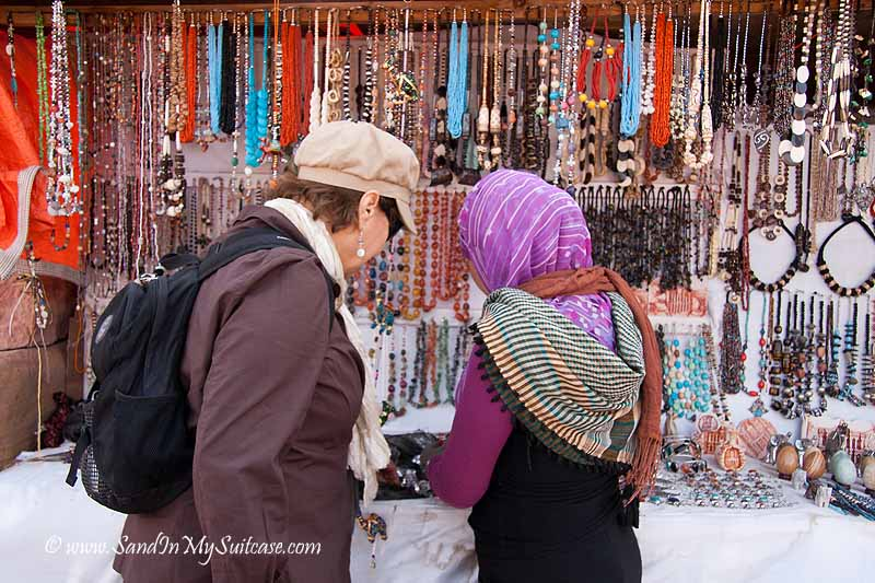 ancient Petra - buying souvenirs