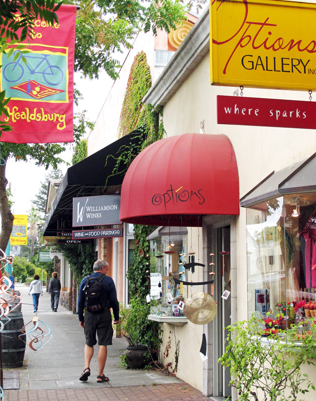 Pretty Healdsburg is chock-full of boutique shops and great eateries.