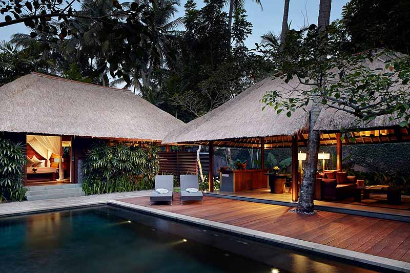 The four Kayumanis resorts in Bali each have a collection of villas with private pools