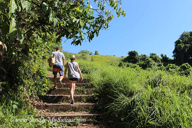 We enjoyed a complimentary guided walk through nearby rice paddies to a local village near Ubud