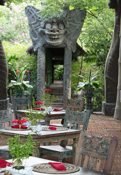 The restaurant at Tugu Lombok, a delightful 5-star boutique hotel