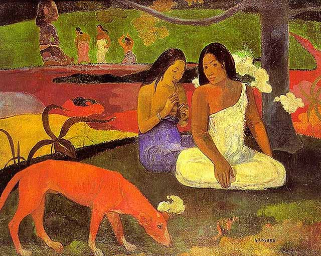 A Paul Gauguin painting - photo Tahiti Tourisme