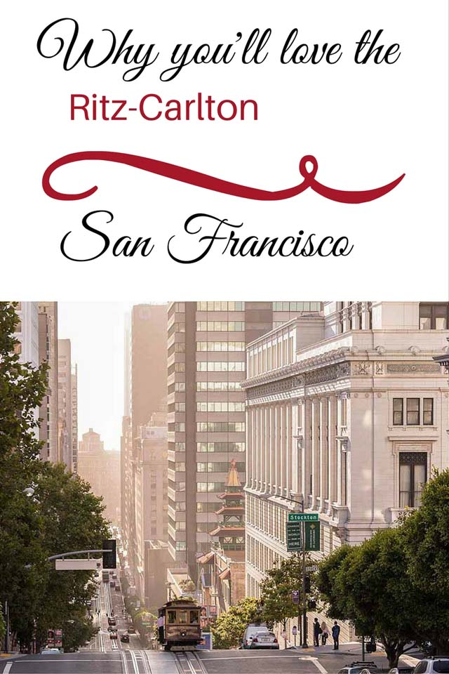 You'll love the Ritz-Carlton San Francisco Club Level -- one of the best in North America!