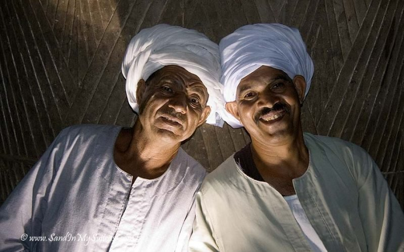 smiling faces - night watchmen Edfu Temple, Egypt