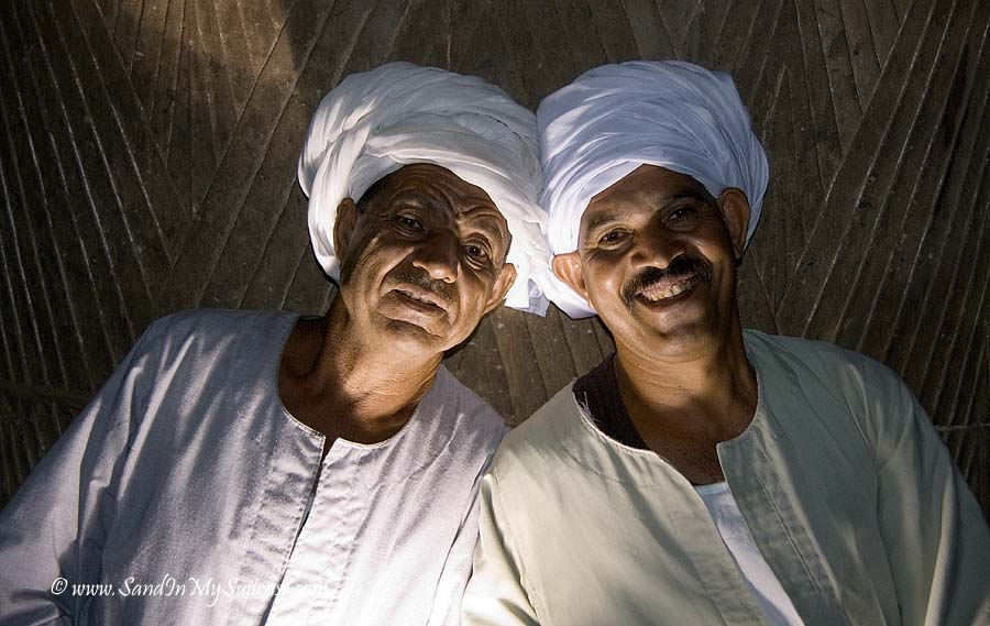 smiling faces - night watchmen Edfu Temple, Egypt