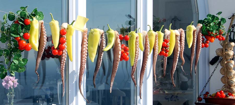 top yachting destinations - Santorini peppers