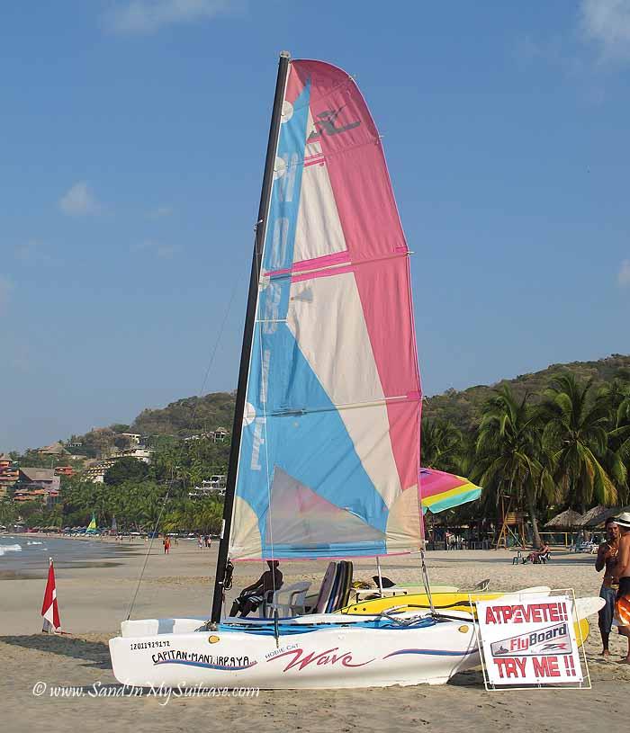 Zihuatanejo beaches - Playa La Ropa beach - sailboat