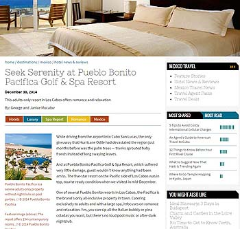 Seek Serenity at Pueblo Bonito Pacifica Golf & Spa Resort - TravelAge West