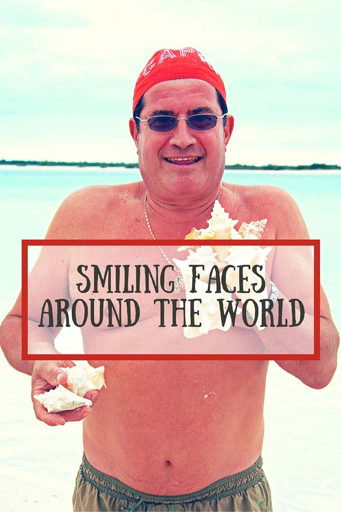 Smiling faces around the world - chef with conch