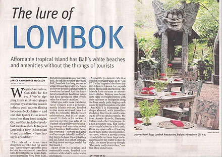 The Lure of Lombok (The Vancouver Sun, September 6, 2014)-page-001